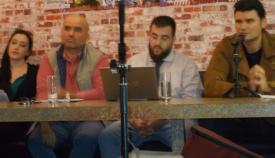 4ο τραπέζι συζητήσεων: Νίκος Ντάσιος, Γιάννης Νιχωρήτης, Σταμάτης Μαμούτος.