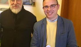 Ο Στάθης Κεφαλούρος με τον Διονύση Σαββόπουλο.