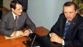 Νίκος Αναστασιάδης και Ταγίπ Ερντογάν.