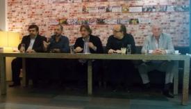1ο τραπέζι συζητήσεων: Γιάννης Γιαννάκενας, Γιάννης Παναγιωτακόπουλος, Σπύρος Δημητρίου, Παναγιώτης Λιάκος, Πολύδωρος Δάκογλου