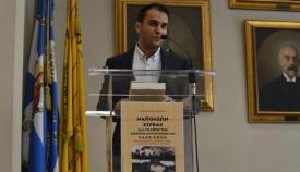 10.04.2016: Ο ιστορικός συγγραφέας Ιωάννης Αθανασόπουλος στο βήμα της εκδήλωσης.