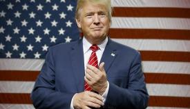 Ο Ντόναλντ Τραμπ, υποψήφιος Πρόεδρος του Ρεπουμπλικανικού Κόμματος.