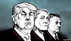 Ντόναλντ Τραμπ, Μαρίν Λεπέν, Βίκτορ Ορμπάν, οι βασικοί εκπρόσωποι του ιδεολογικού ρεύματος της Νέας Δεξιάς.