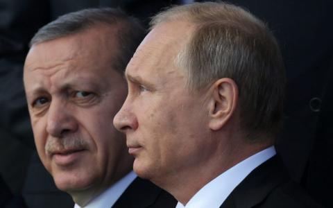Ταγίπ Ερντογάν και Βλαντιμίρ Πούτιν.