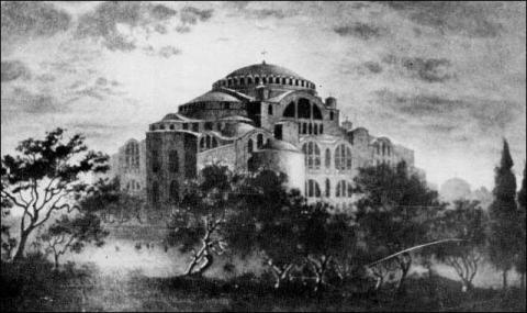 Ο Ναός της Ύπατης Σοφίας του Ένσαρκου Λόγου του Θεού στην Κωνσταντινούπολη.