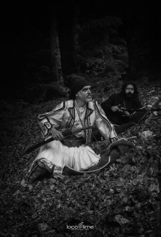 Ο Δημήτρης Παπαδόπουλος και ο Μανώλης Σαββίδης στα γυρίσματα της «Εξόδου 1826».