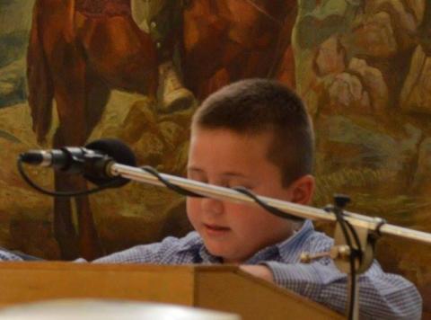 20.03.2016: Ιδιαίτερη συγκίνηση προκάλεσε η απαγγελία από τον μικρό Γρηγοράκο, εγγονό του Καπετάνιου, ποιήματος το οποίο συνέγραψε επ' ευκαιρία της εκδηλώσεως ο ποιητής Ανδρέας Αλεξόπουλος.
