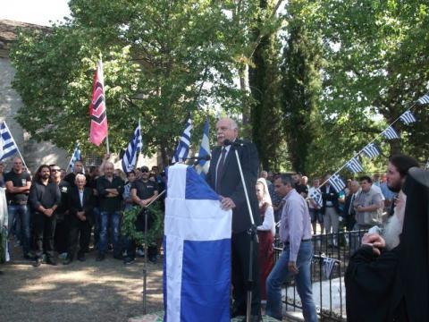 30.08.2015: Ο ευρωβουλευτής Γεώργιος Επιτήδειος εκπροσώπησε την Χρυσή Αυγή.
