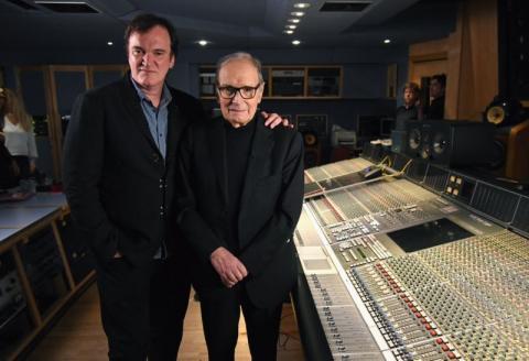 Ταραντίνο και Μορρικόνε κατά την ηχογράφηση των «Μισητών 8».