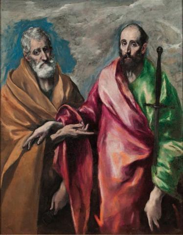 «Οι Απόστολοι Πέτρος και Παύλος» του Δομήνικου Θεοτοκόπουλου.