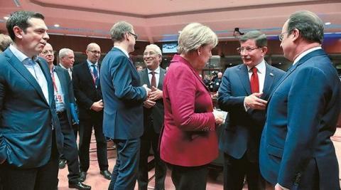Ο Αλέξης Τσίπρας στην Σύνοδο Κορυφής της 7ης Μαρτίου 2016.