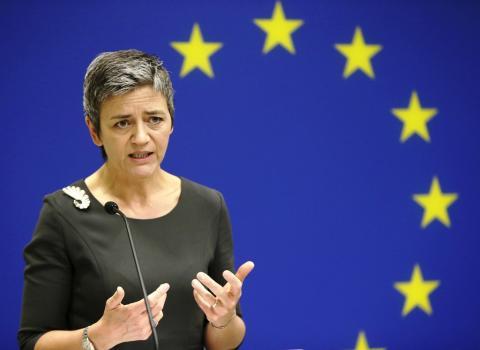 Η Επίτροπος για τον Ανταγωνισμό Μαργκρέτε Βεστάγκερ.